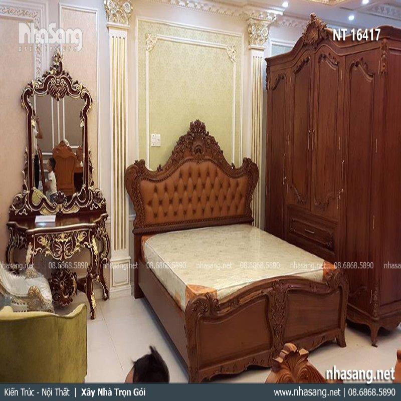 Giường ngủ cao cấp tân cổ điển NT16417