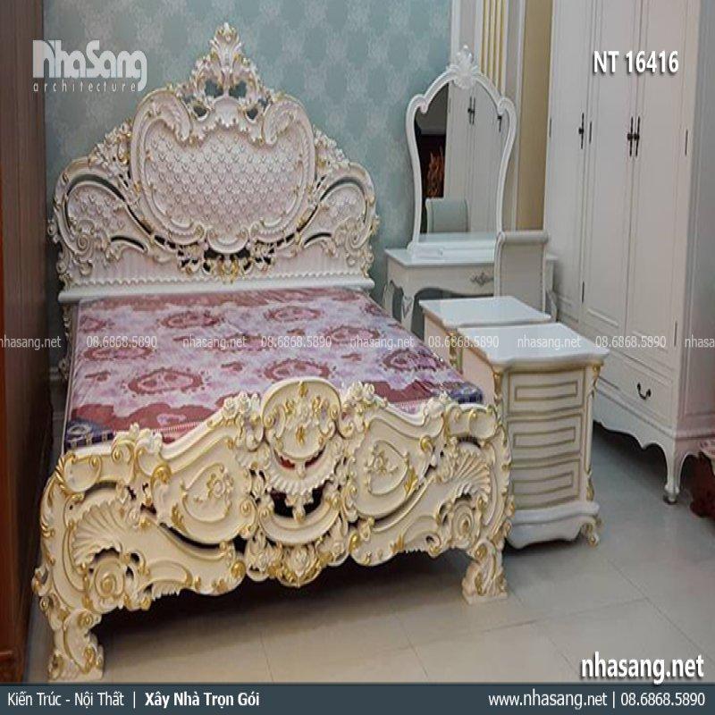 Giường ngủ dát vàng NT16416