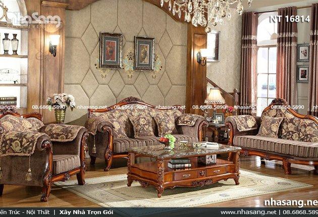 Sofa cổ điển Châu Âu đẹp sang trọng NT16814