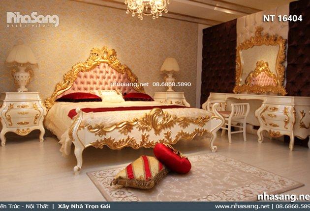 Giường ngủ cổ điển Châu Âu Monaliza NT16404