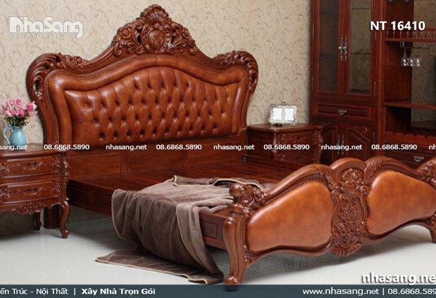 Giường ngủ tân cổ điển đẹp ấn tượng NT16410