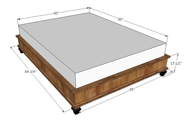 Kích thước giường ngủ theo lỗ ban