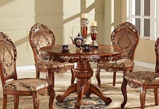 Bộ bàn ăn tròn Hoàng Gia NT16912