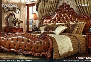 Giường ngủ cao cấp phong cách Châu Âu cho giấc ngủ an lành NT16407