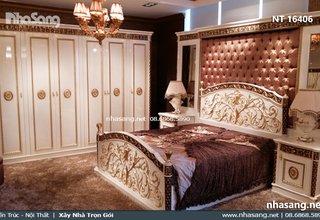 Set giường ngủ tân cổ điển Châu Âu NT16406