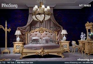 Giường ngủ Nữ Hoàng, gỗ gõ đỏ, loại 1m8 NT16403