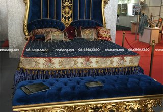 Giường ngủ cao cấp phong cách Hoàng gia Châu Âu NT16411