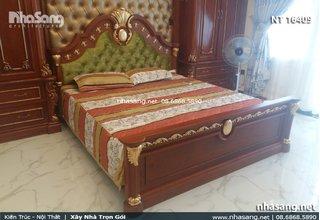 Giường ngủ cao cấp phong cách Châu Âu NT16409