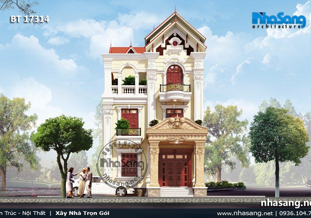 Biệt thự kiểu Pháp 3 tầng sắc sảo đến từng đường nét BT17314