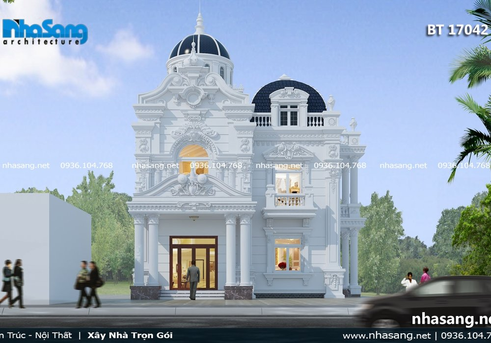 Biệt thự cổ điển 2 tầng 2 mặt tiền BT17042