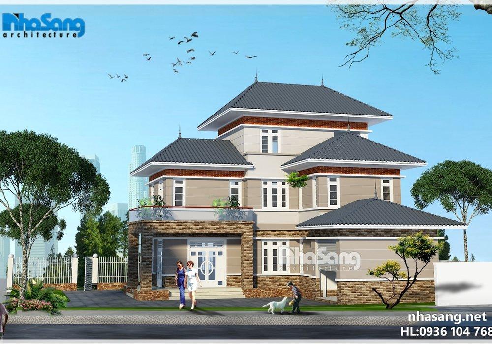 Biệt thự nhà vườn chữ L 3 tầng sang trọng - hòa mình vào thiên nhiên BT16013