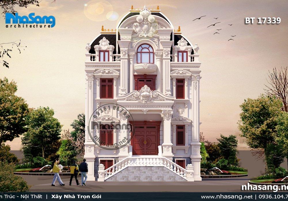 Biệt thự cổ điển kiểu Pháp 4 tầng BT17339