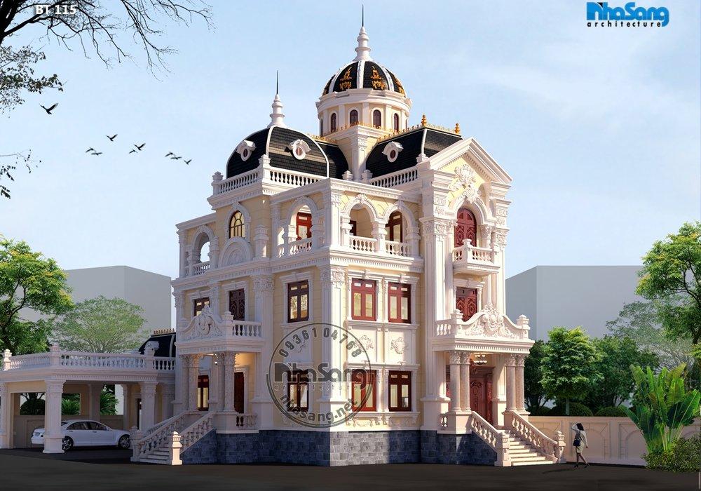 Mẫu biệt thự lâu đài Pháp được ưa chuộng nhất Nam Bộ BT115
