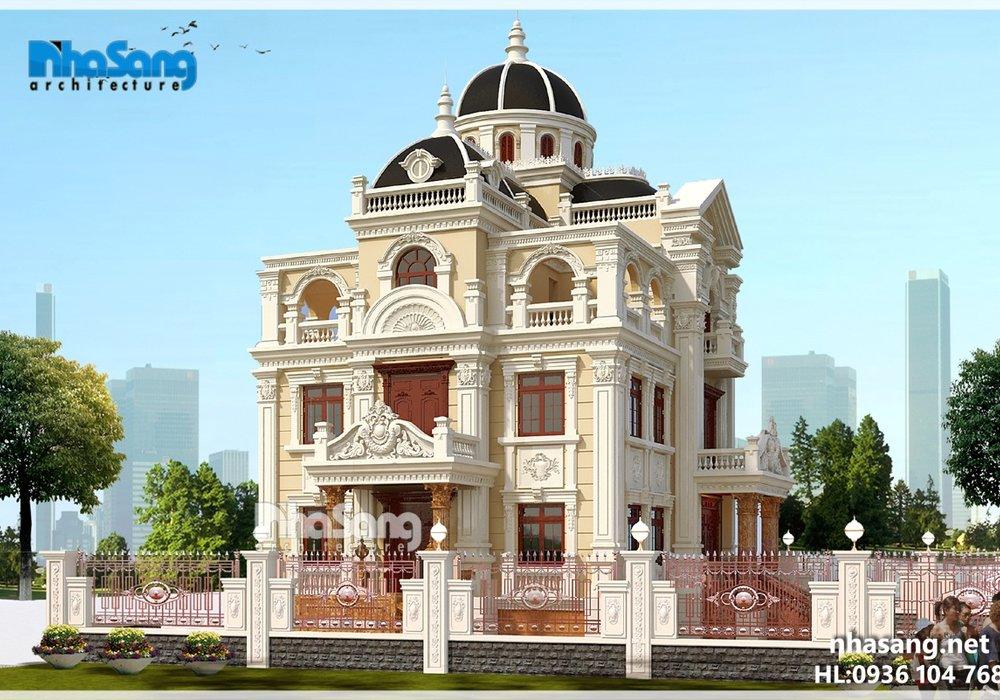 Biệt thự lâu đài 4 tầng mặt tiền 12m BT16033