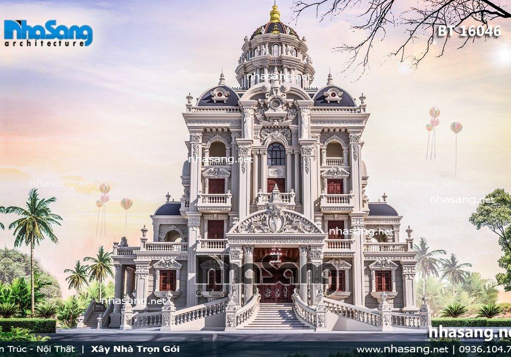 Thiết kế biệt thự siêu lâu đài BT16046 | Top 100 Lâu đài -Dinh thự đẹp nhất