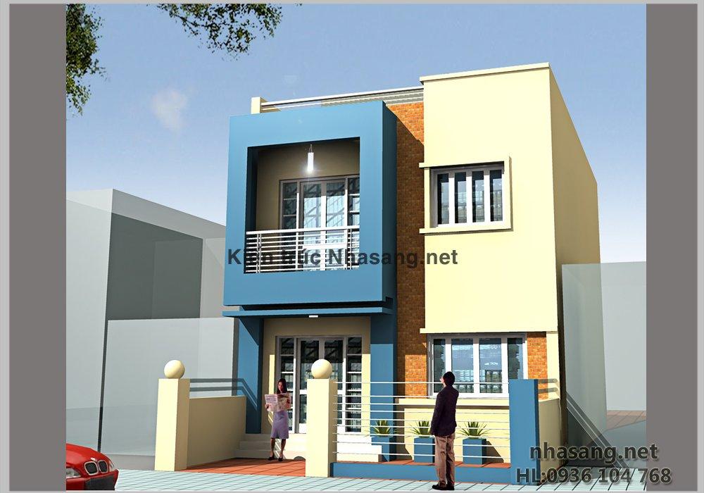 Thiết kế Biệt thự kiểu nhà Ống BT14066 chú Phát Hà nội