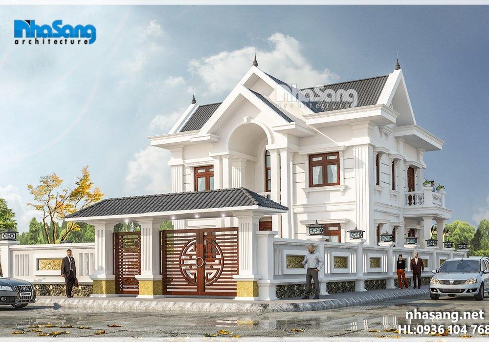 Biệt thự nhà vườn 2 tầng mặt tiền chính 12m và mặt tiền phụ 10.5m BT16017