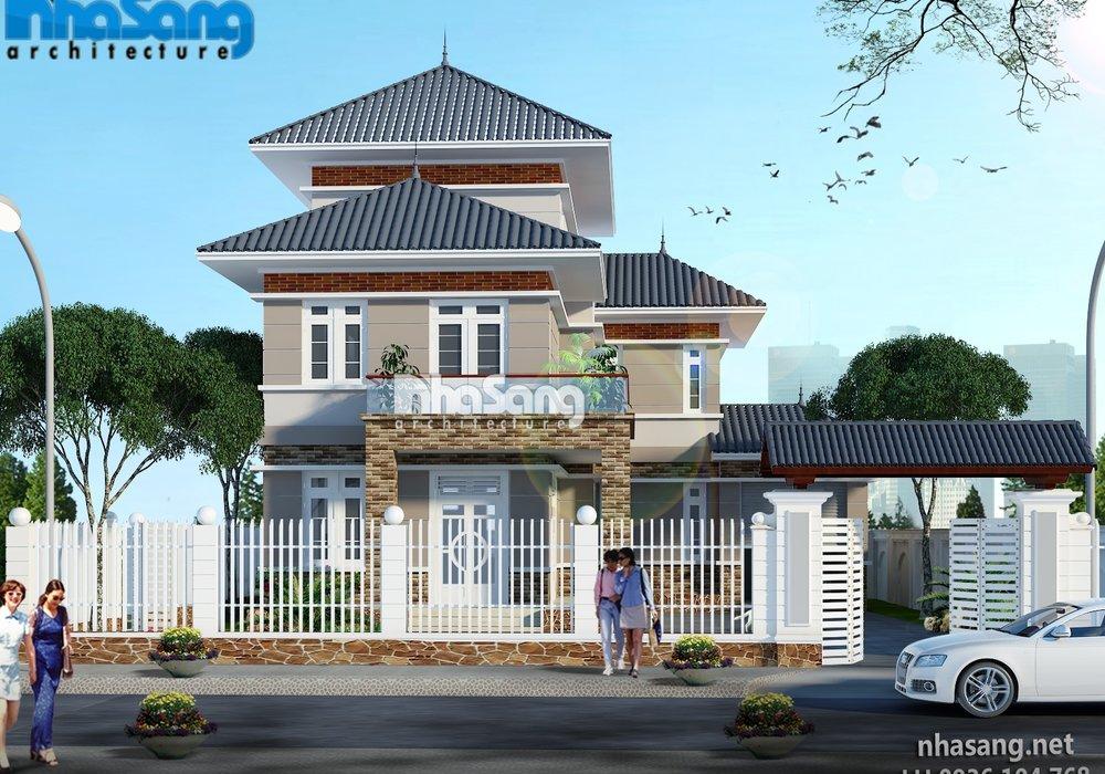 Nhà vườn chữ L 3 tầng BT15013