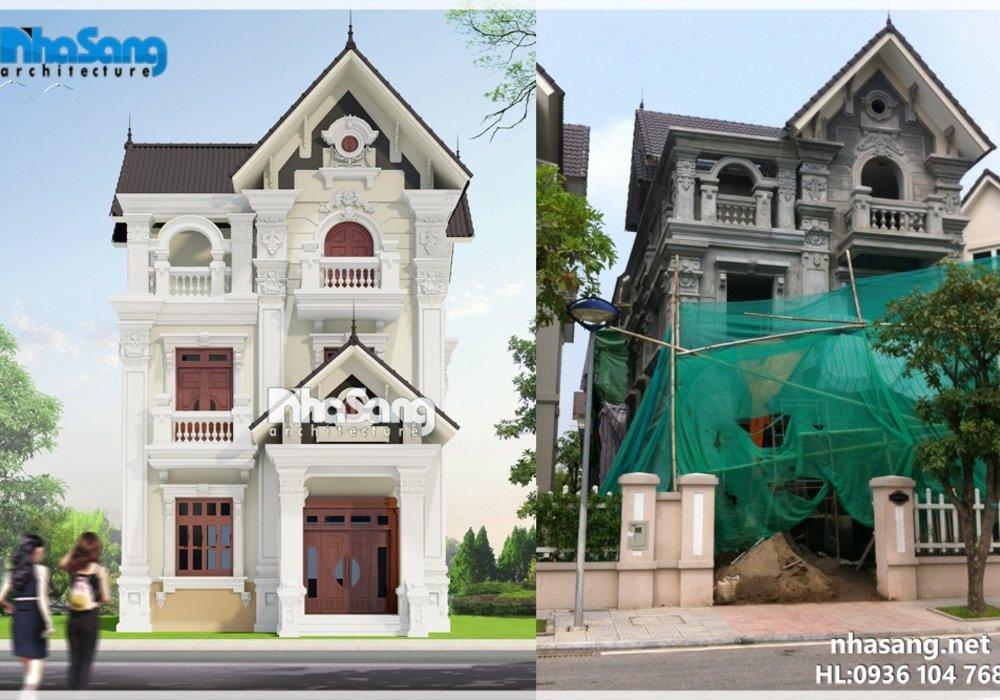 THIẾT KẾ NHÀ BIỆT THỰ PHÁP 3 TẦNG BT14147 - Mẫu nhà 2 tầng đẹp