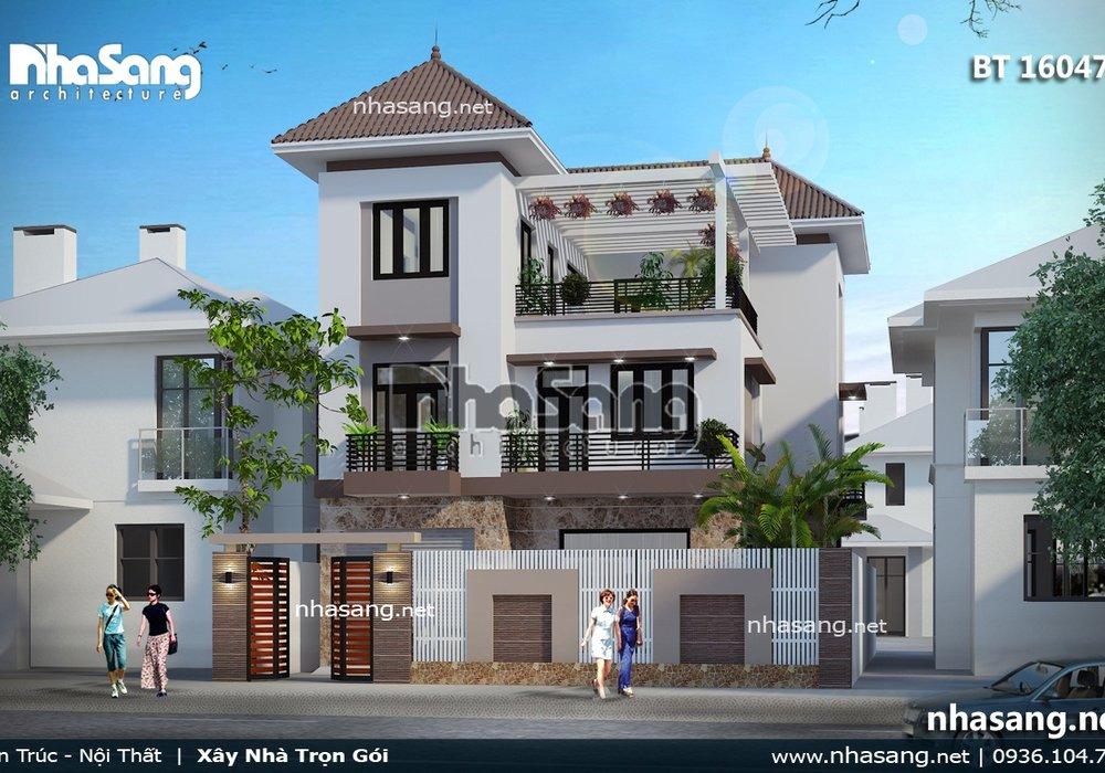 Biệt thự phố 3 tầng hiện đại đẹp BT16047