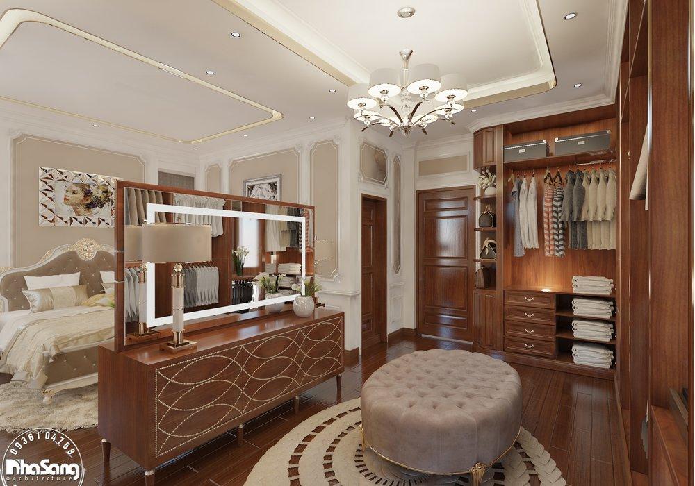 Thiết kế nội thất biệt thự tân cổ điển nhẹ nhàng full 3 tầng NT138
