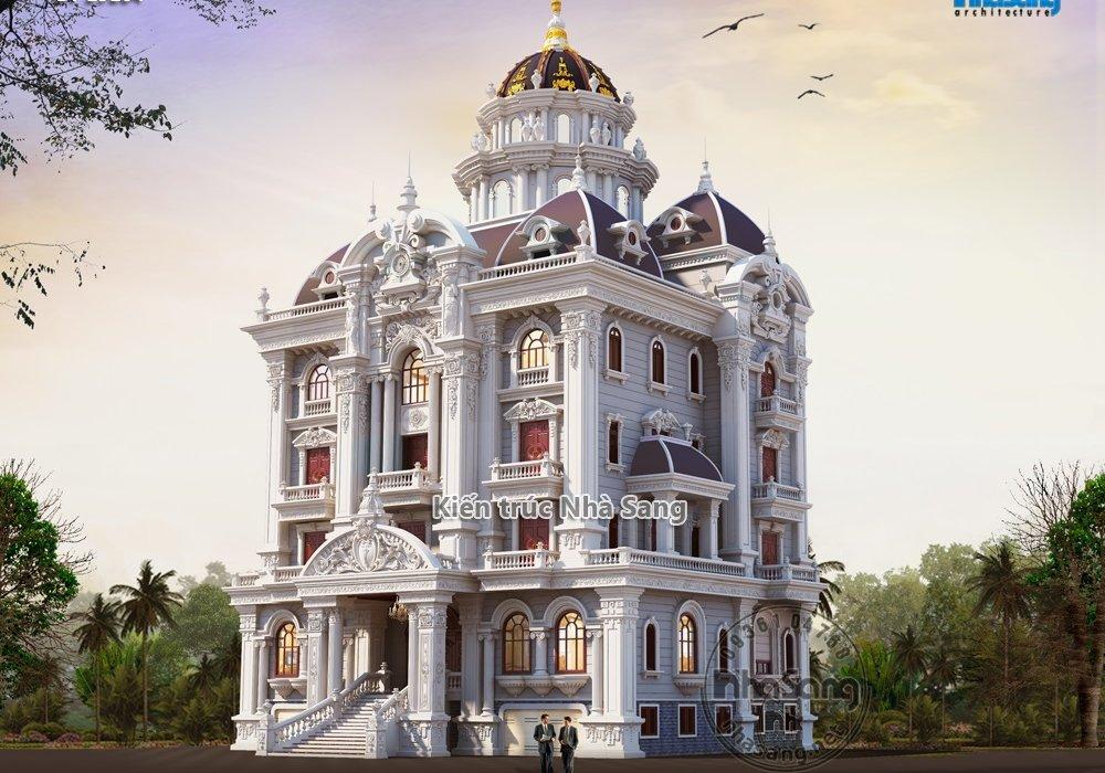 Thiết kế lâu đài 4 tầng 22m x 15m lộng lẫy bậc nhất Ninh Bình BT19104