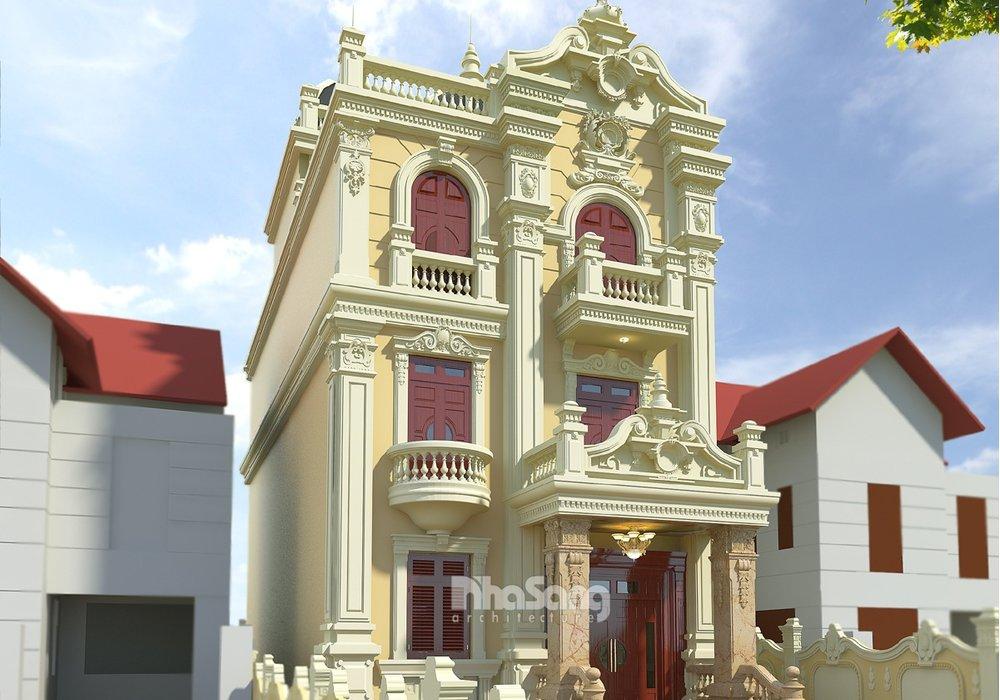 Biệt thự lâu đài đẹp mặt tiền 7.6m 3 tầng BT16008