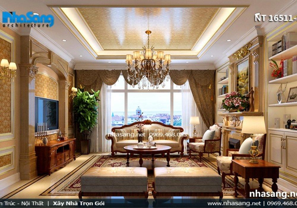 10 Mẫu phòng khách biệt thự đẹp - Thiết kế phòng khách NT16511