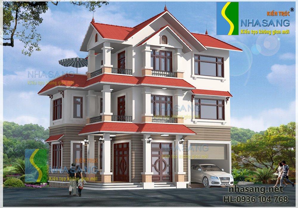 Mẫu thiết kế nhà biệt thự 3 tầng 12m x 7.2m | Xem ngay 10 mẫu nhà biệt thự mặt tiền 12m