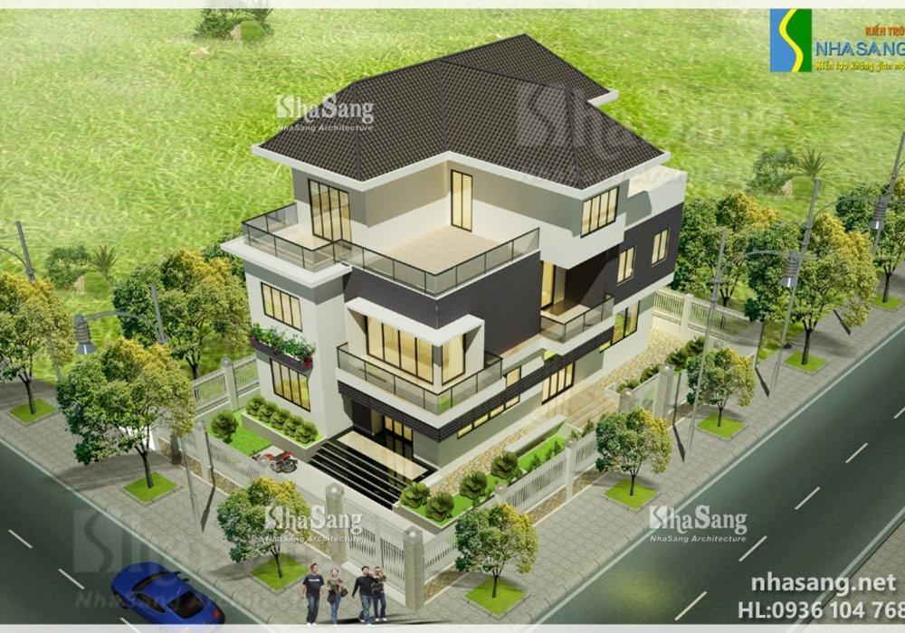 Mẫu thiết kế nhà biệt thự 3 tầng hiện đại BT14143 - Kiến trúc nhà phố đẹp