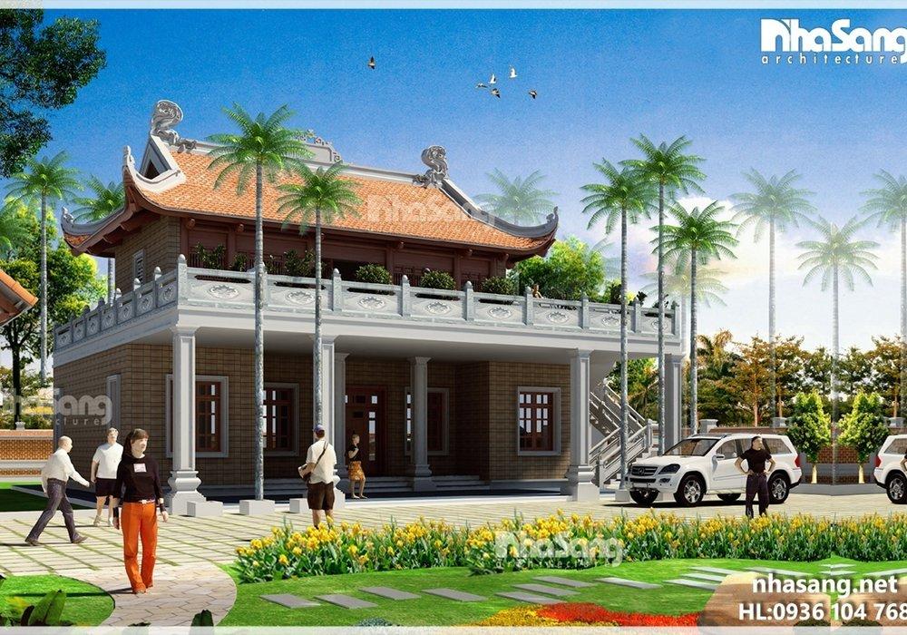 Nhà vườn truyền thống 2 tầng 15m x 10m BT16007