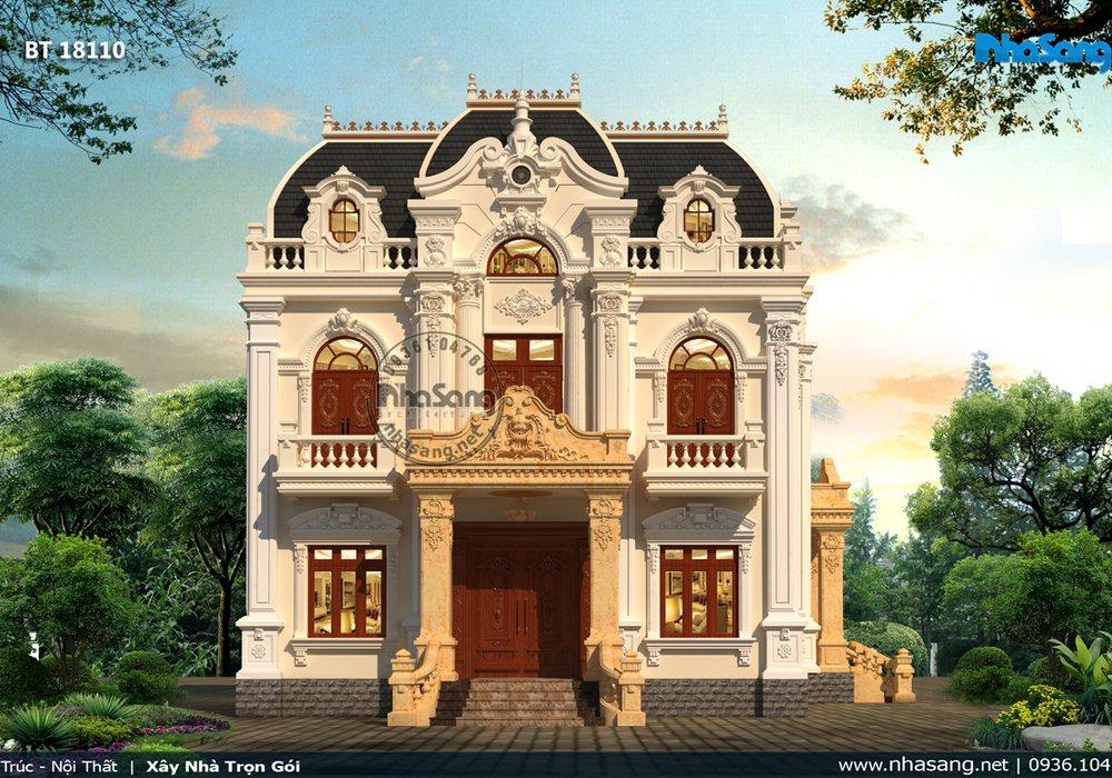 Xây nhà để đời cho con cháu: Rộng 5 phòng ngủ Nhà vườn kiểu Pháp BT18110