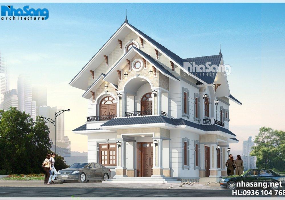 Biệt thự nhà vườn mặt tiền 9m 2 tầng mái thái BT15176