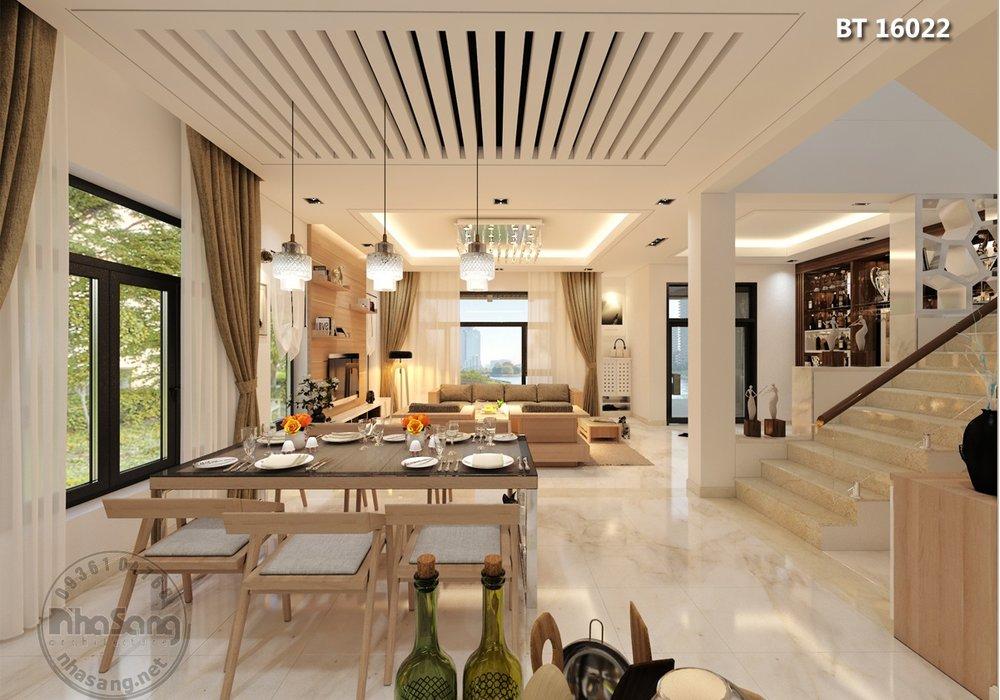 Thiết kế nội thất biệt thự hiện đại BT16022