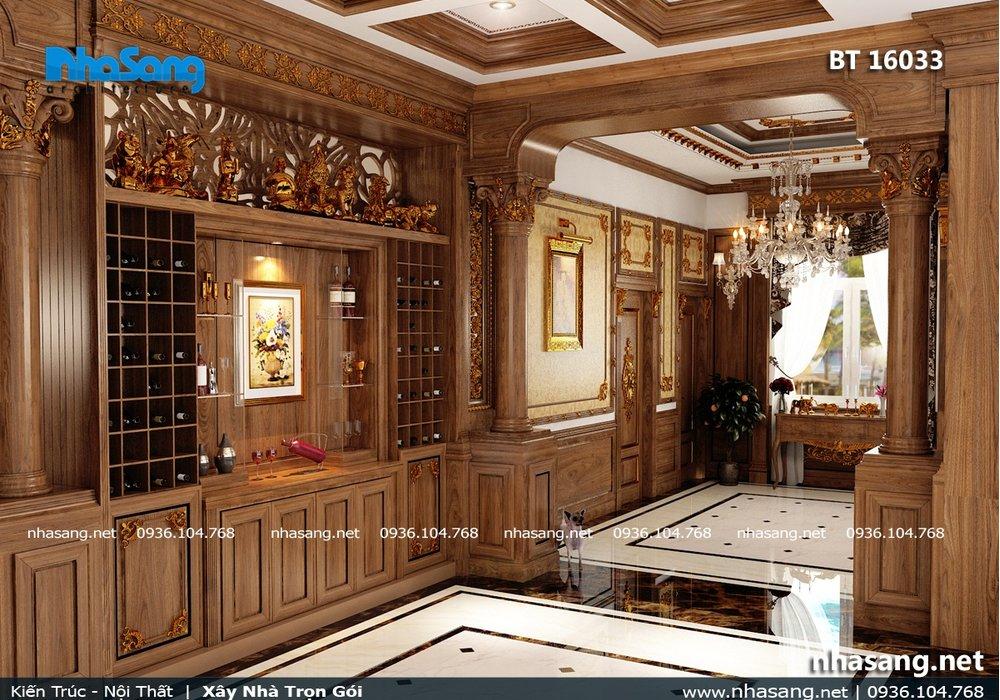 Nội thất gỗ biệt thự lâu đài tại Đồng Nai NT16033