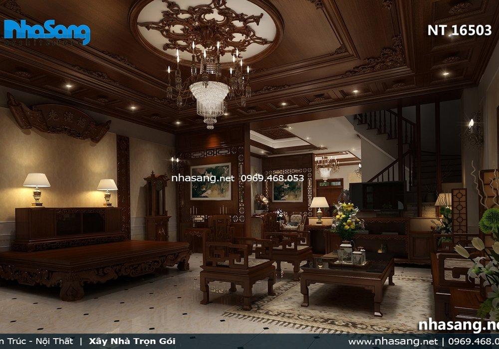 Nội thất phòng khách gỗ tự nhiên NT16503