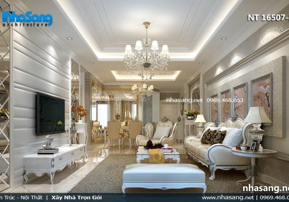6 Mẫu nội thất phòng khách Tân cổ điển đẹp NT16507