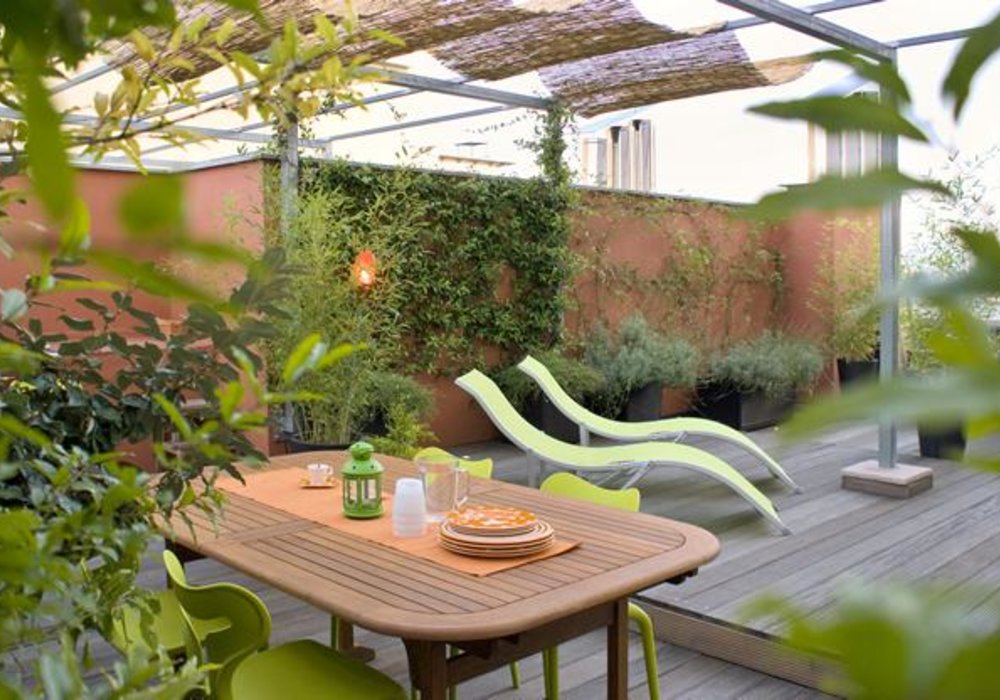 Ý tưởng thiết kế sân vườn sân thượng