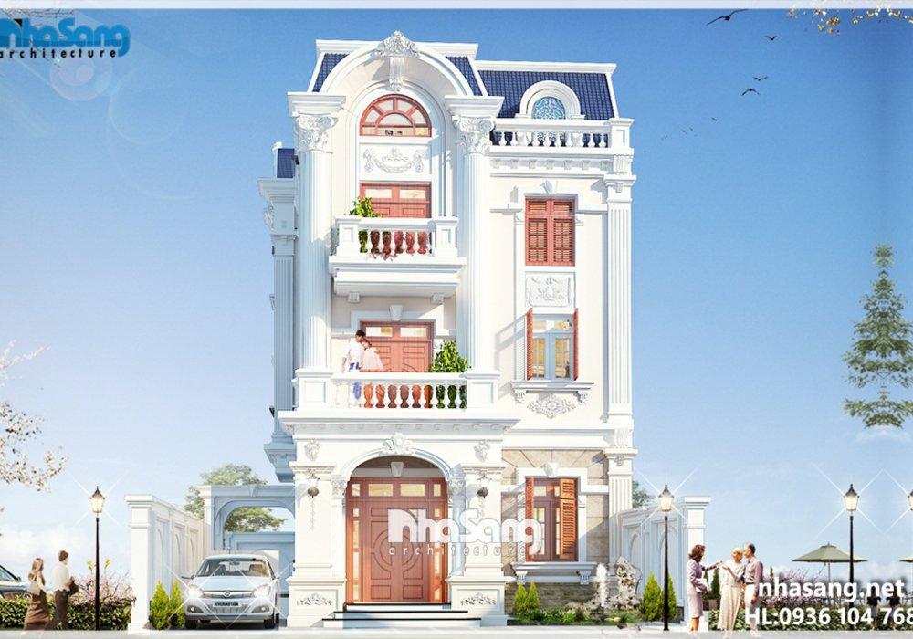 Mẫu biệt thự Pháp đẹp khu đô thị Việt Hưng Long Biên BT14181