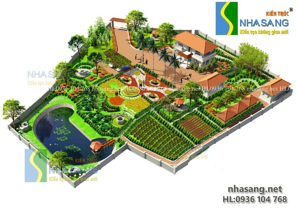 Thiết kế nhà vườn Lương Sơn Hòa Bình NV14107