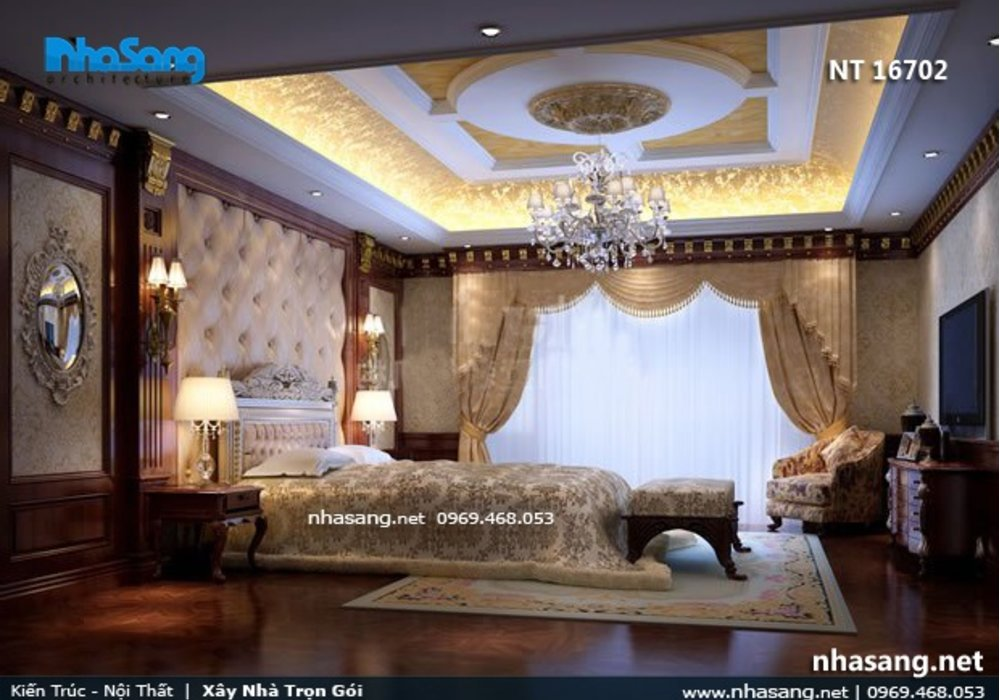 Phong cách nội thất biệt thự tân cổ điển Châu âu NT16602