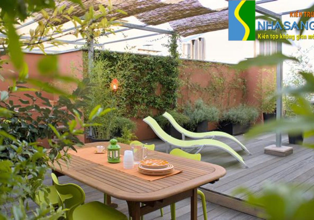 Thiết kế thi công vườn sân thượng ST13002