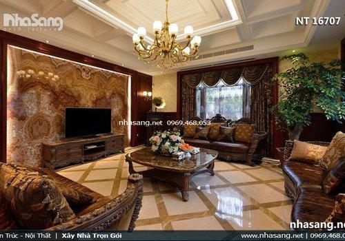 Thiết kế thi công nội thất biệt thự tân cổ điển Châu Âu - nội thất gỗ lim Nam Phi NT16707