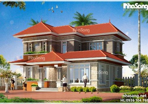 10 Mẫu nhà 2 tầng mái ngói được ưa chuộng nhất