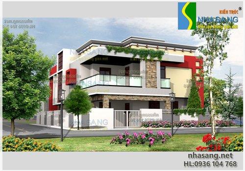 Thiết kế nhà ở 9x12m Biệt thự 2 tầng hiện đại BT14071