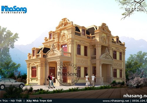 Biệt thự cổ điển kiểu Pháp trên đất 870m2 BT17296