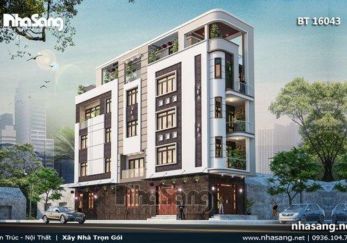 Nhà phố đẹp độc đáo 5 tầng 2 mặt tiền BT16043