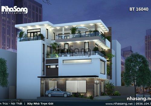 Thiết kế văn phòng kết hợp nhà ở BT16040