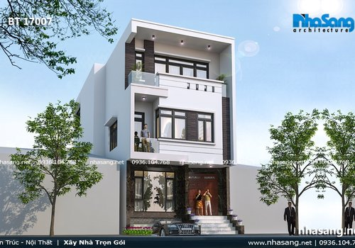 4 kiểu dáng thiết kế ngôi nhà mặt tiền 7m BT17007