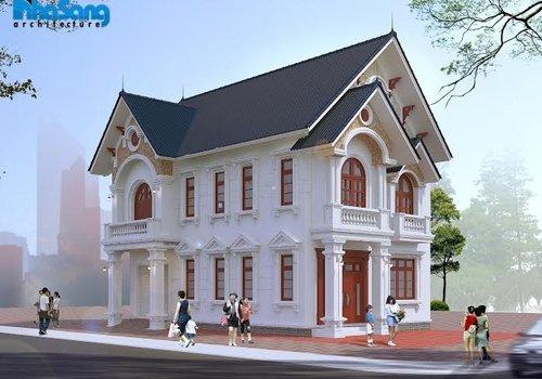 Biệt thự kiểu Pháp 2 tầng mái thái BT16025